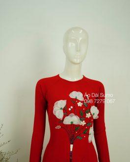 Áo Dài Kết Hoa Nổi kèm quần