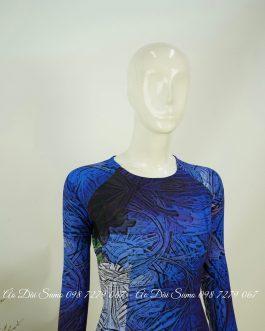 Áo dài cách tân nữ BLUE WAVE kèm quần
